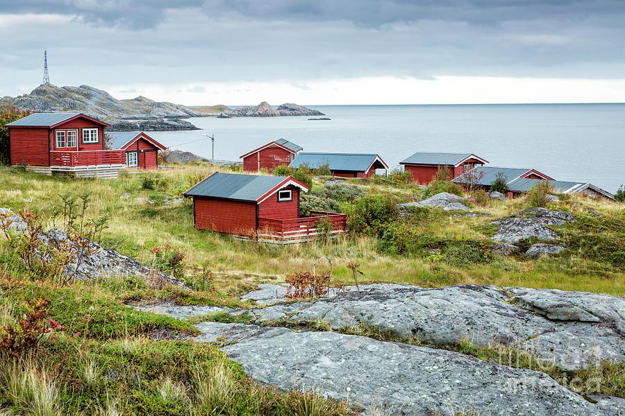 Norway Photograph - Lofoten Cabins 3 by Timothy Hacker