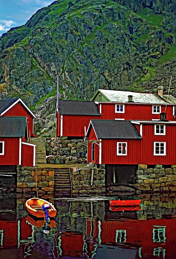Lofoten Photograph - Lofoten Fishing Huts by Steve Harrington