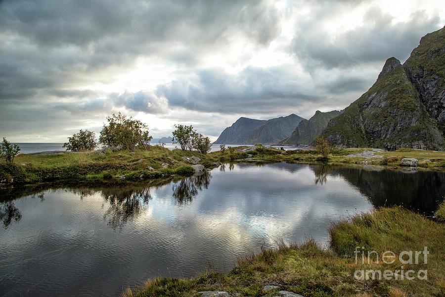 Norway Photograph - Lofoten Reflections by Timothy Hacker