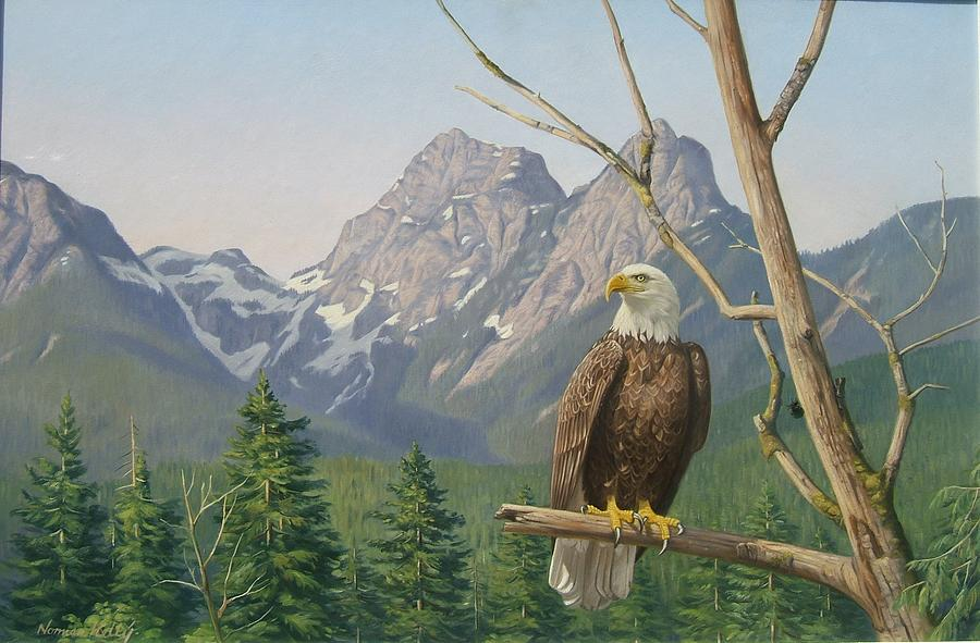 Lofty perch Painting by Norman Kelly