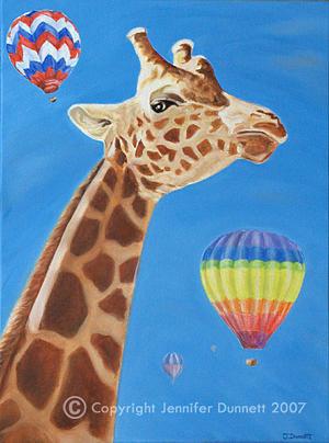 Oil Painting - Lofty The Giraffe by Jennifer Dunnett