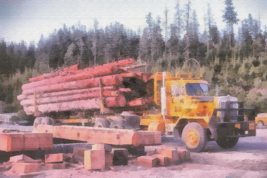 Log Photograph - Logging by John Winner