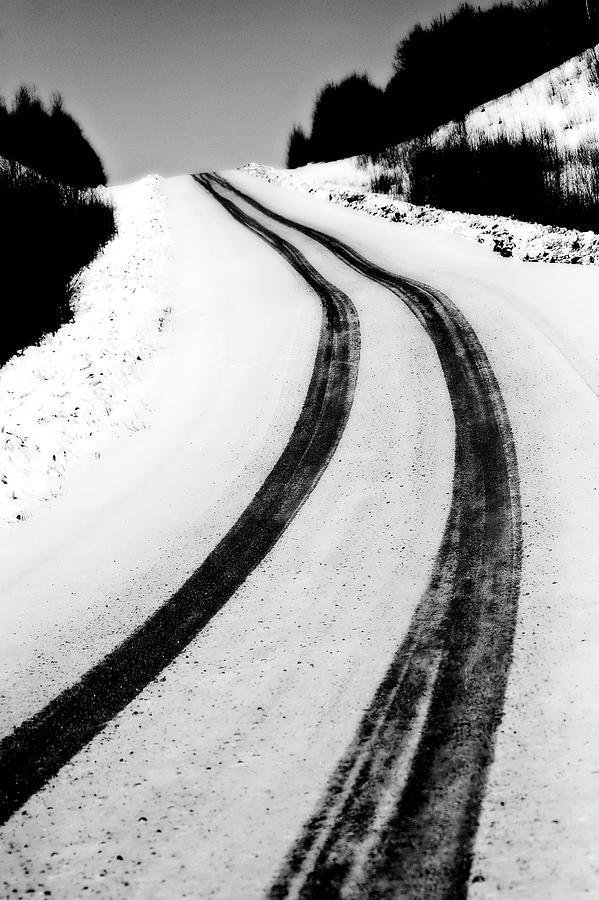 Snow Digital Art - Logging Road In Winter by Mark Duffy