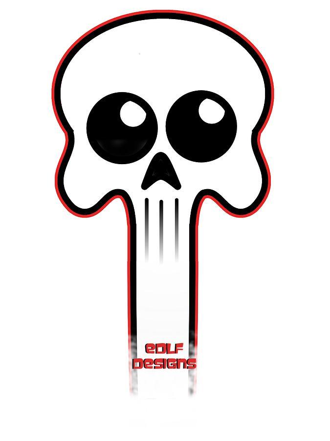 Skull Digital Art - Logo  by Eric De La Fuente