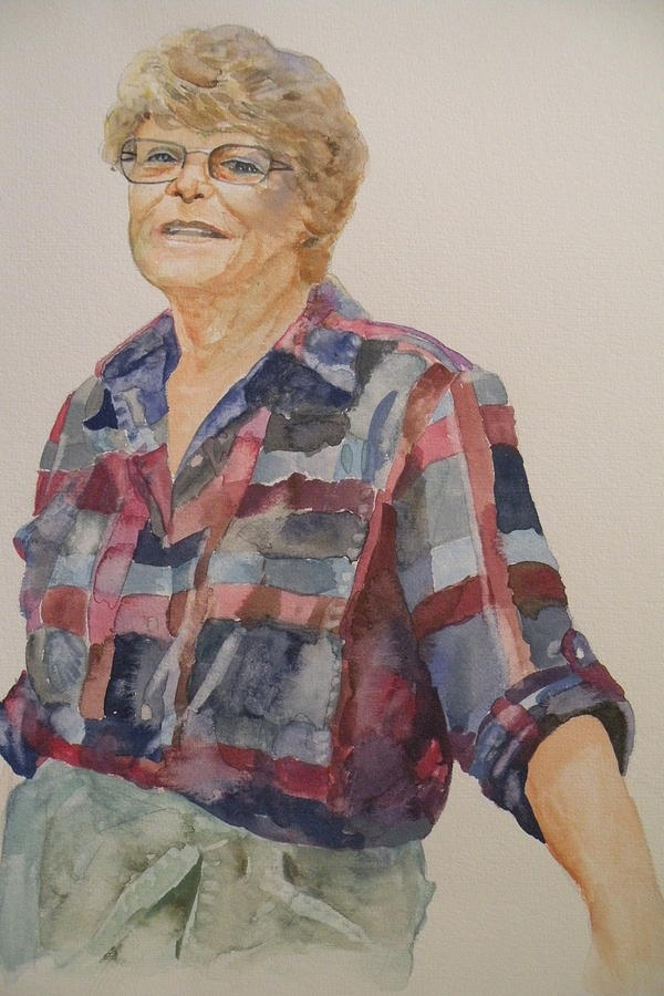 Portrait Painting - Lois by Wendy Hill