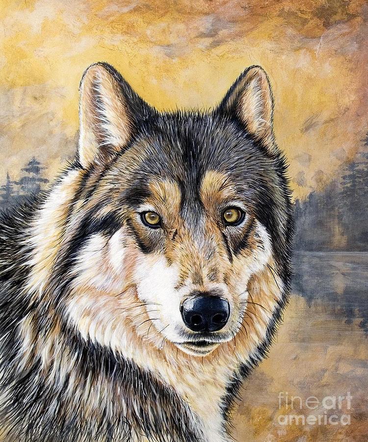 Acrylics Painting - Loki by Sandi Baker