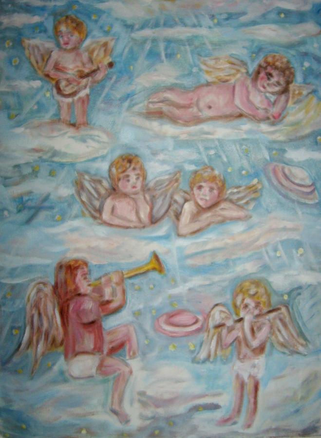 Lolling Around 2 Painting by Joseph Sandora Jr
