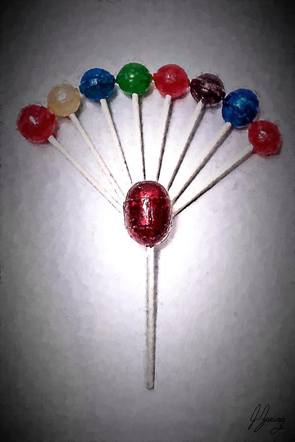 Lollipop Painting - Lollipop Balloons  by Joshua Zaring