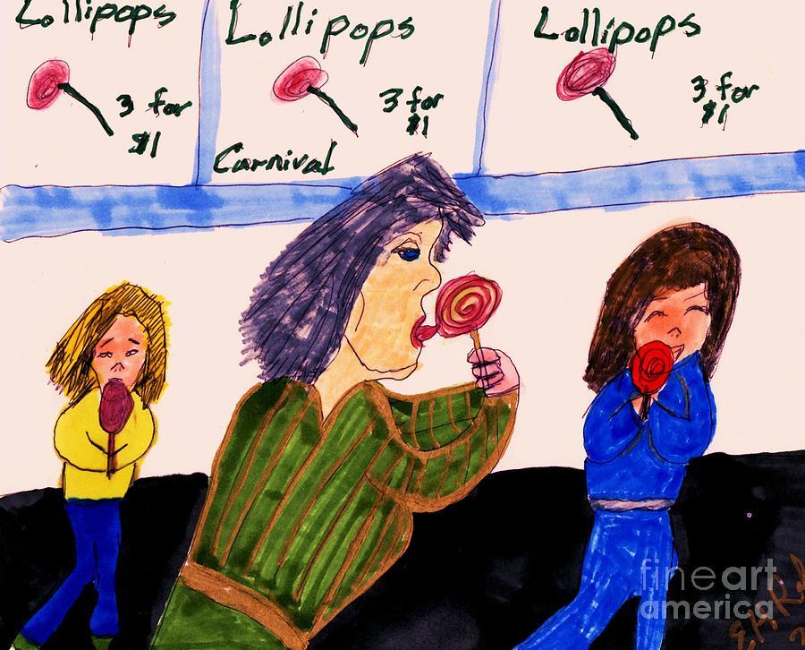 Lollipops Mixed Media by Elinor Helen Rakowski