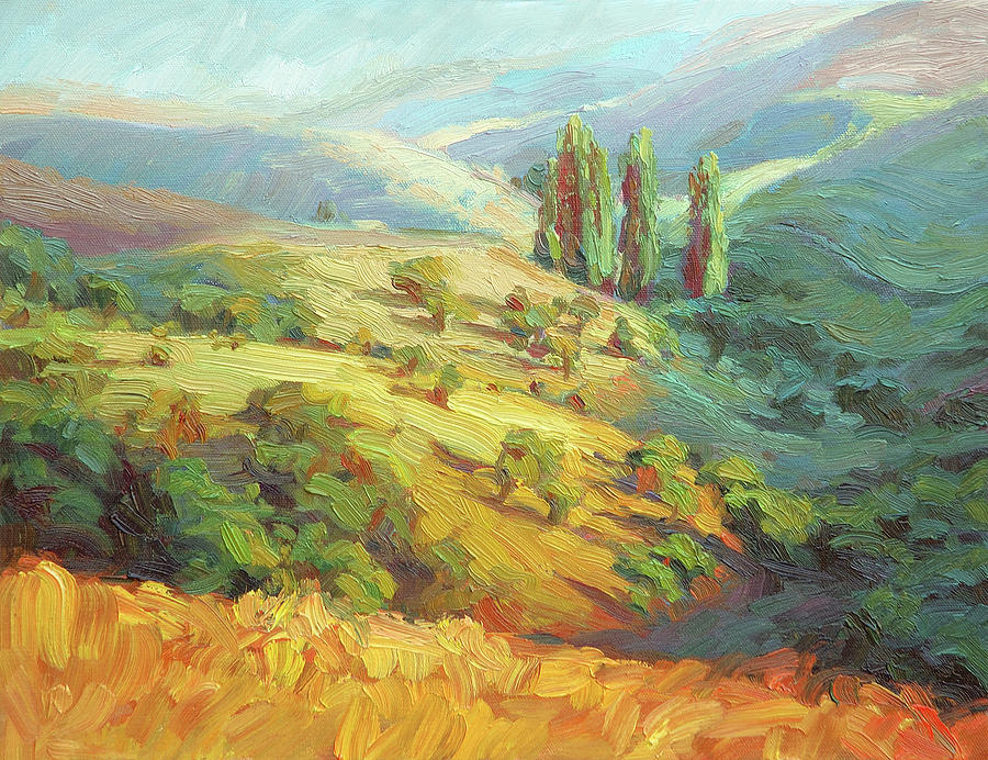 Country Painting - Lombardy Homestead by Steve Henderson