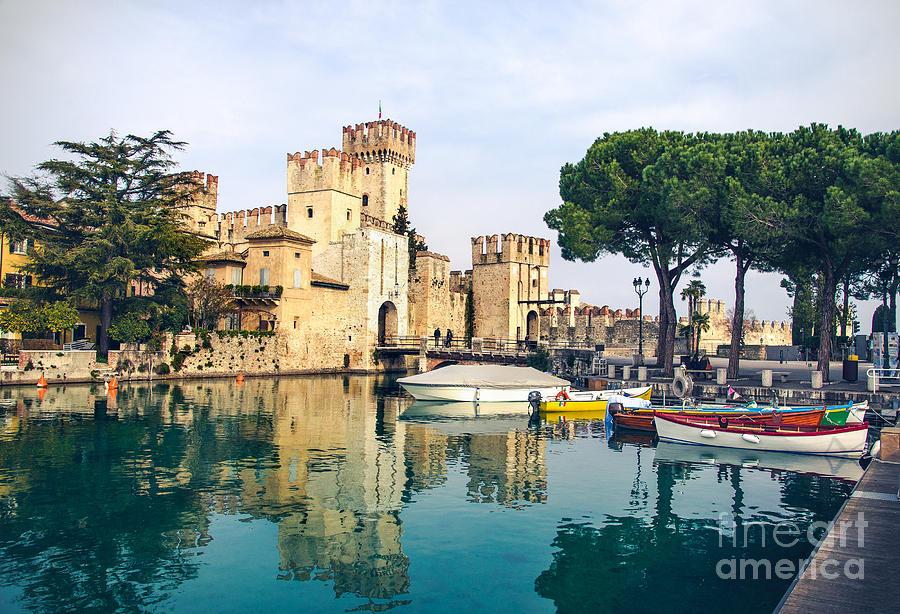 Landmark Photograph - Sirmione Canvas Print -  Lombardy Region - by Luca Lorenzelli