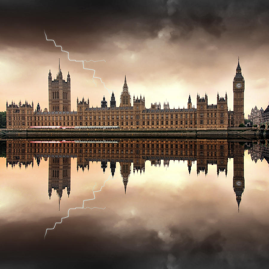 Architecture Photograph - London - The Houses Of Parliament  by Jaroslaw Grudzinski