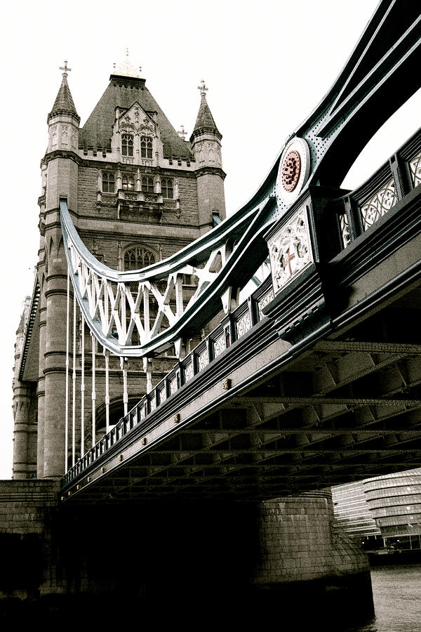 London Photograph - London - Tower Bridge - Vintage by Jaime Scatena