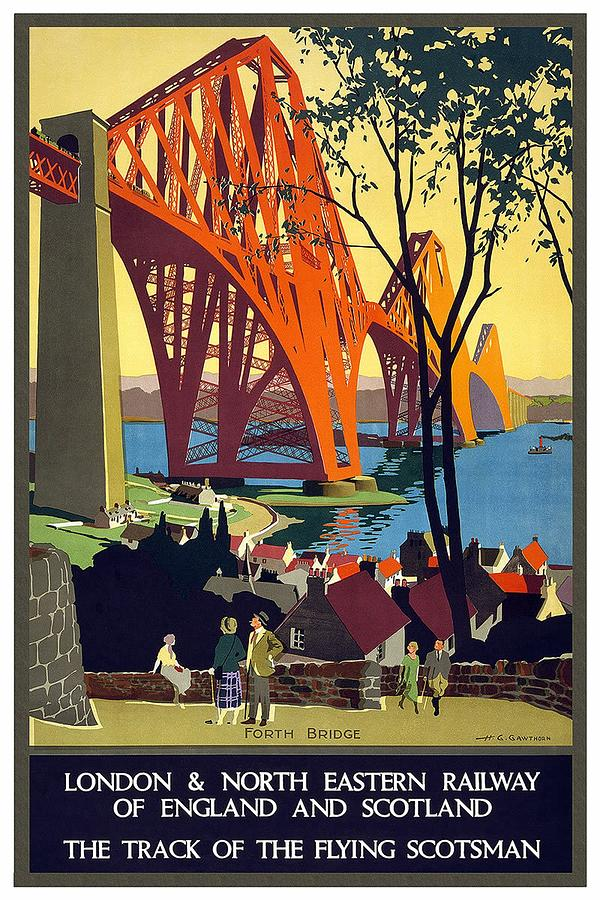 London And North Eastern Railway - Retro Travel Poster - Vintage Poster Mixed Media