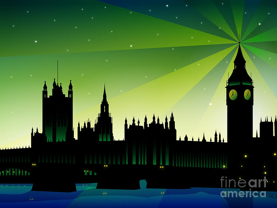 London Digital Art - London Big Ben by Sandra Hoefer
