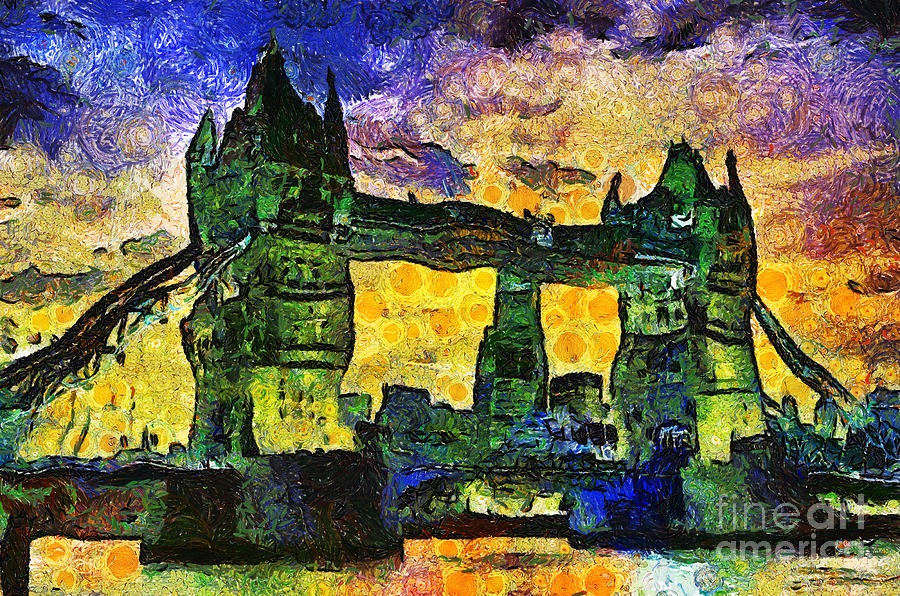Tower Digital Art - London Bridge by Ian Mitchell