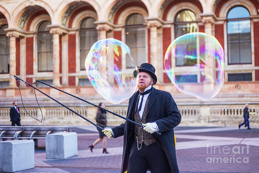 Street Artists Photograph - London Bubbles 4 by Alex Art and Photo