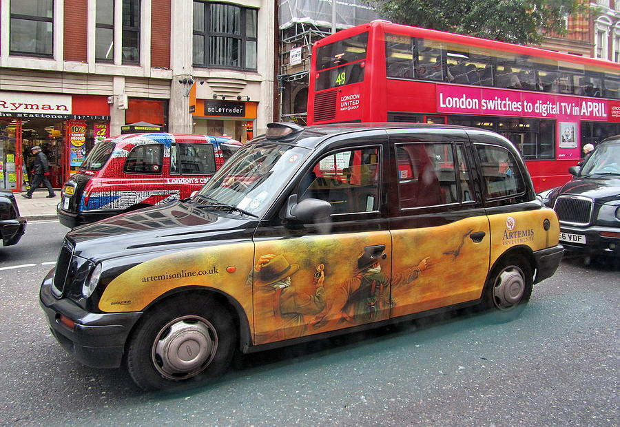 London Photograph - London Busy Street by Lyuba Filatova