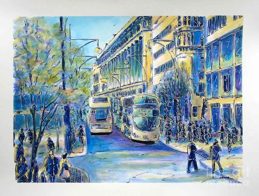 London Painting - London City Oxford Street by Gracio Freitas