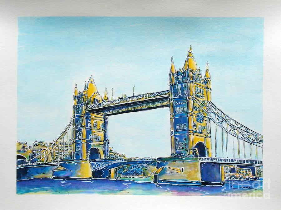 London Painting - London City Tower Bridge by Gracio Freitas