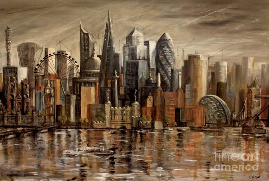 London Cityscape by Yvonne Ayoub