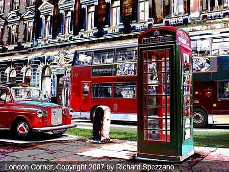 Landscape Painting - London Corner by Richard Spezzano
