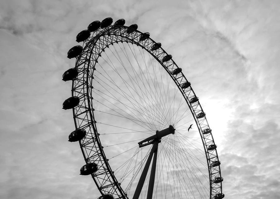 London Eye Silhouette Photograph By Irena Kazatsker