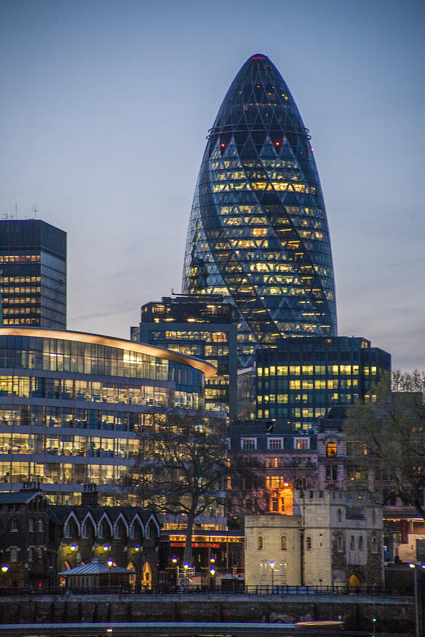Architecture Photograph - London Financial District by Richard Nowitz