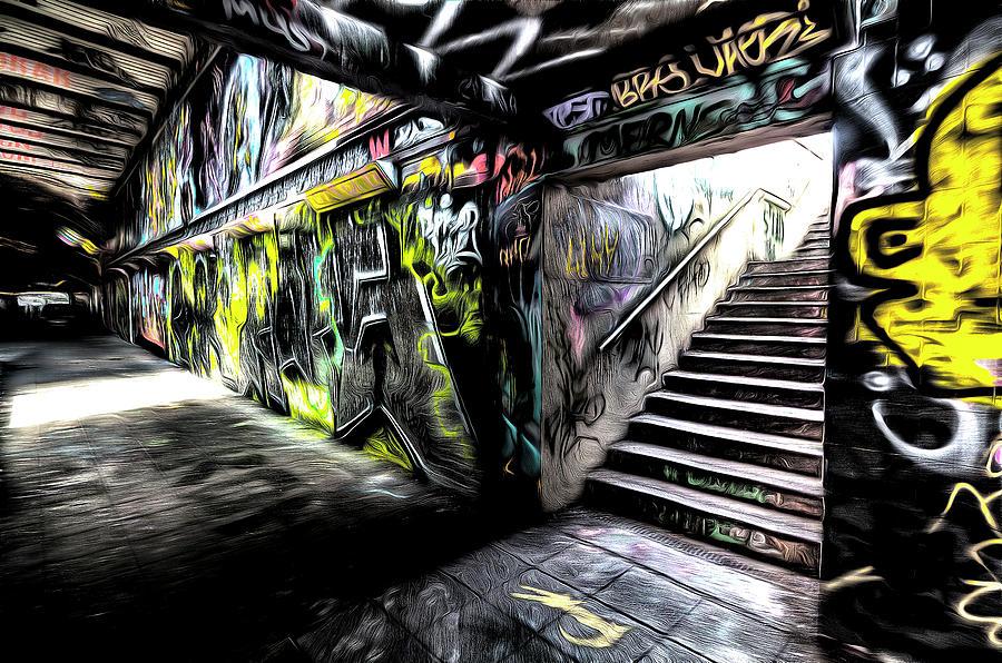 London Sketch Photograph - London Graffiti Art by David Pyatt
