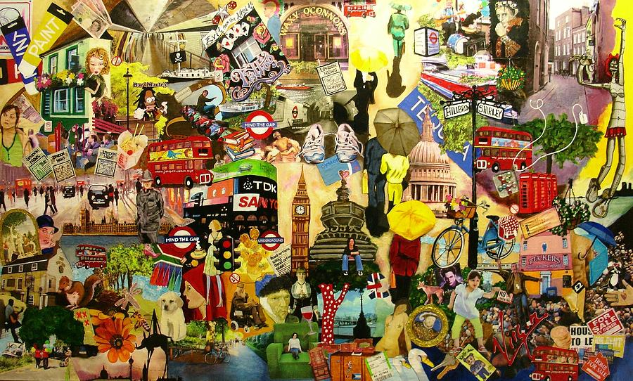 London Painting - London by Jacqui Simpson
