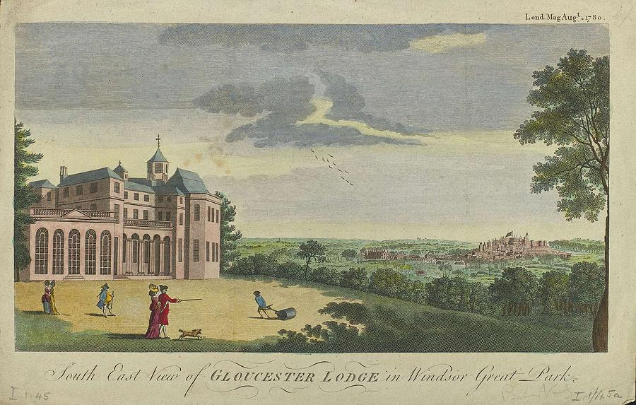 Nature Painting - London Magazine, London South East View Of Gloucester Lodge In Windsor Great Park Published Aug 1780 by Artistic Rifki