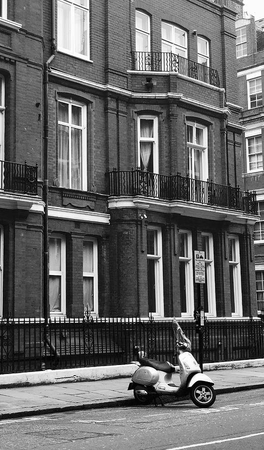 Lambretta Scooter Photograph - London Sixties Lambretta by Anna Neuprandt
