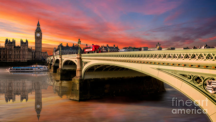 Sunset Photograph - London Sunset by Adrian Evans