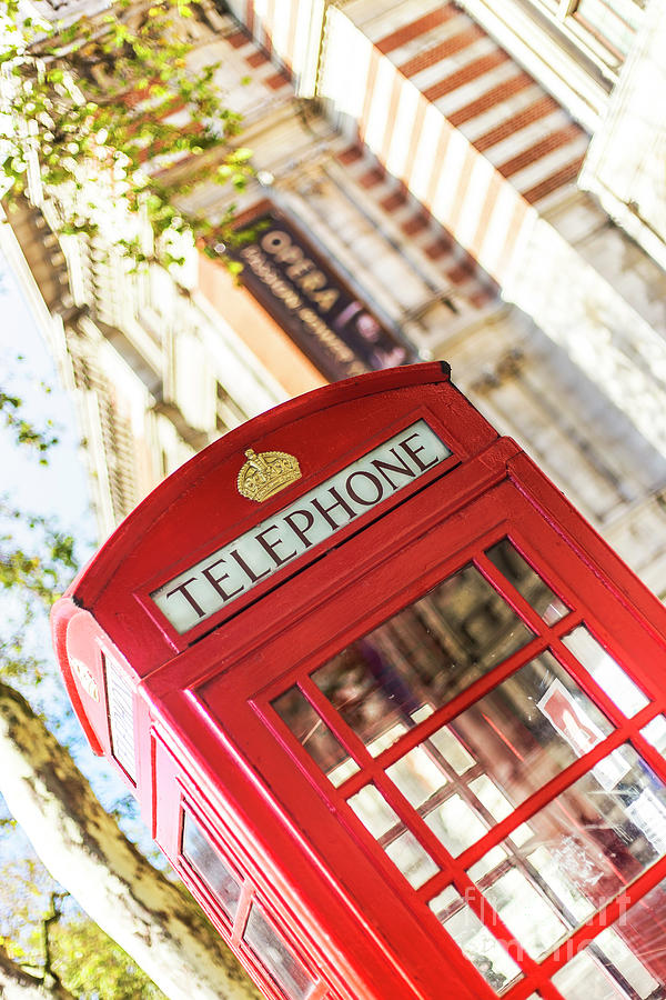 Big Ben Photograph - London Telephone 3 by Alex Art and Photo