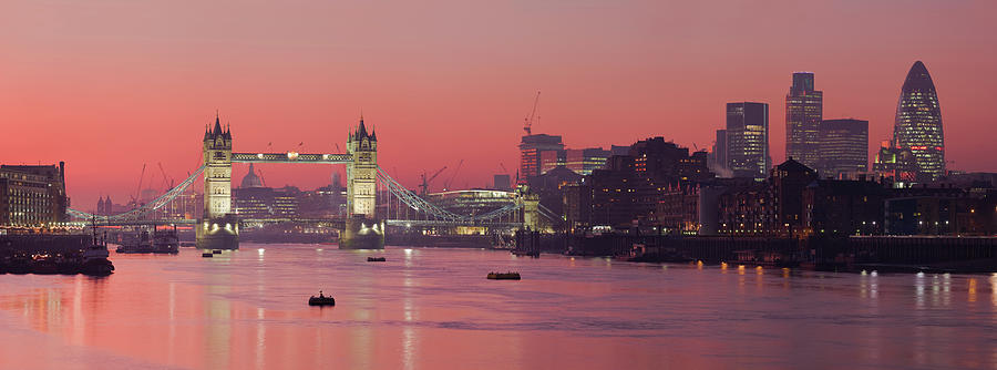 London Thames by Thomas M Pikolin