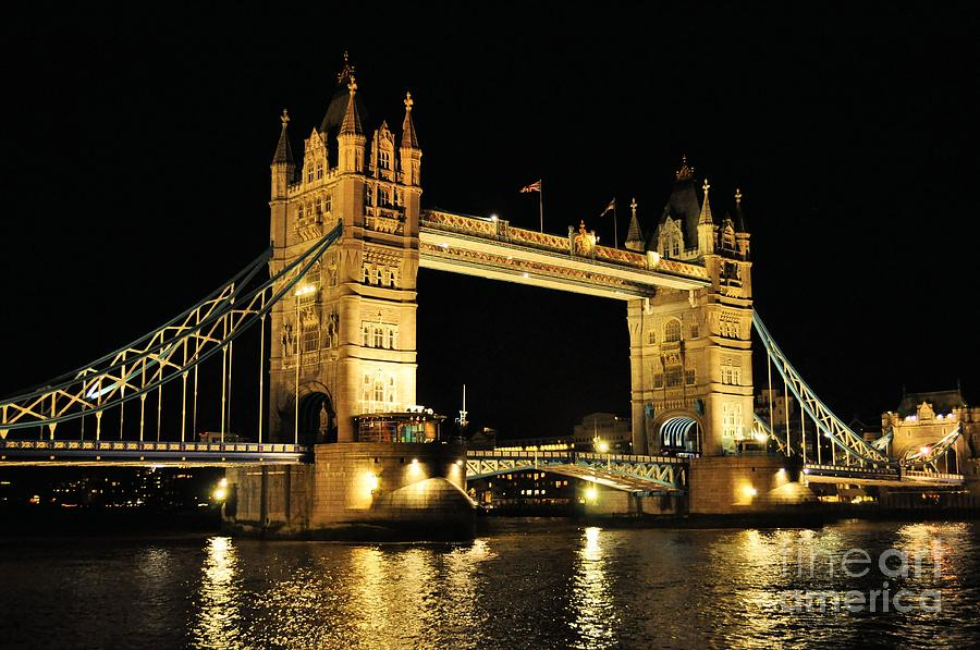 London Tower Photograph - Tower Bridge by Caroline  Jeanine