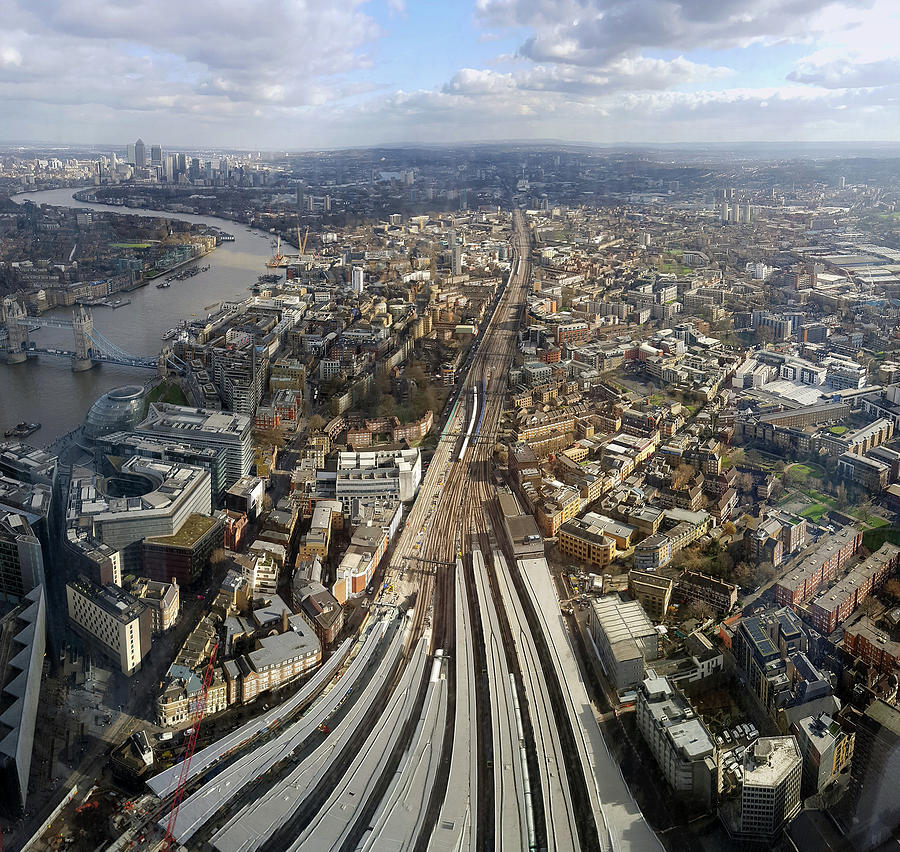London Train Station, Aerial View Photograph by Ioan Panaite