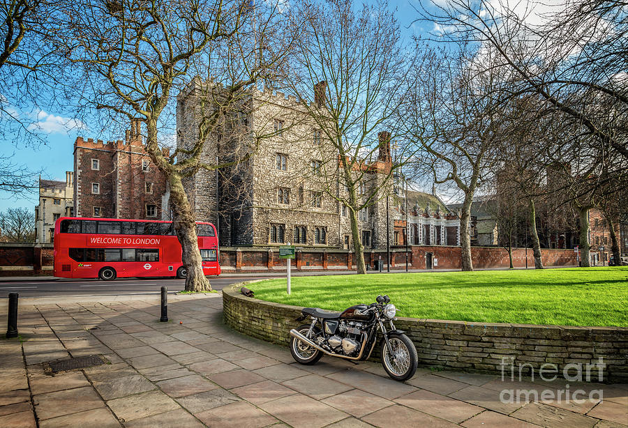 Albert Embankment Photograph - London Transport by Adrian Evans