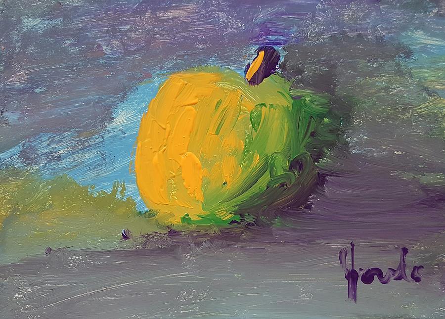 Still Life Painting - Lone Apple by Steve Jorde