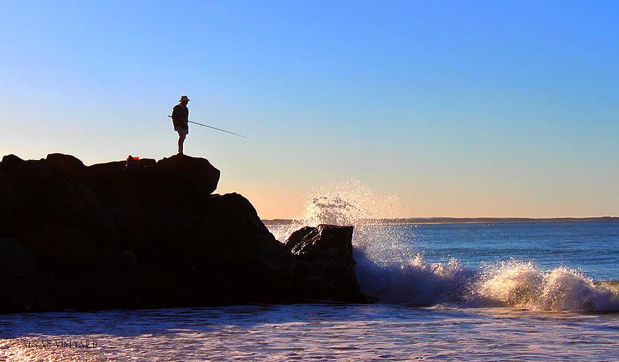 Noosa Photograph - Lone Fisherman - Noosa Heads by Susan Vineyard