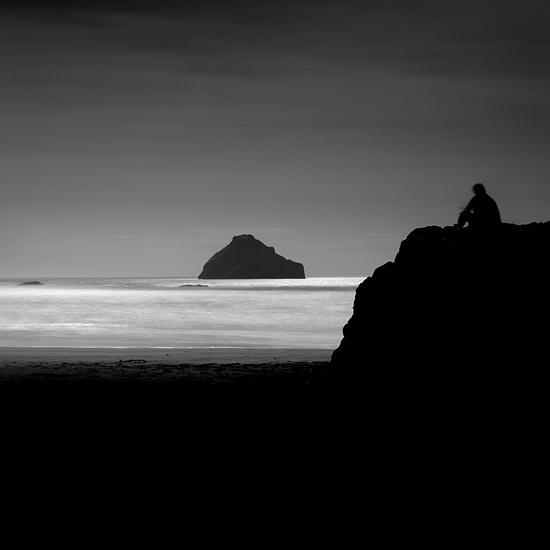 B&w Photograph - Lone Man No 10 by Cole Thompson