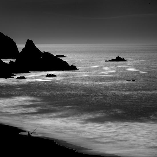 B&w Photograph - Lone Man No 13 by Cole Thompson