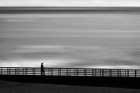 B&w Photograph - Lone Man No 21 by Cole Thompson