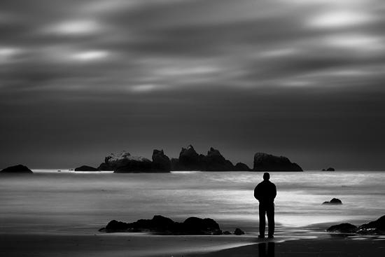B&w Photograph - Lone Man No 8 by Cole Thompson
