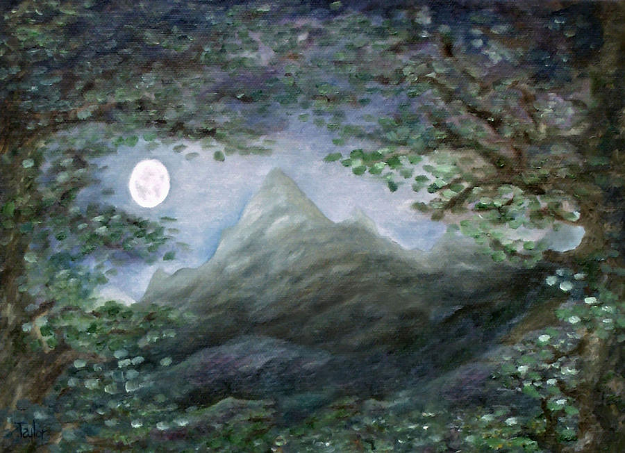 Lone Mountain Moon by FT McKinstry