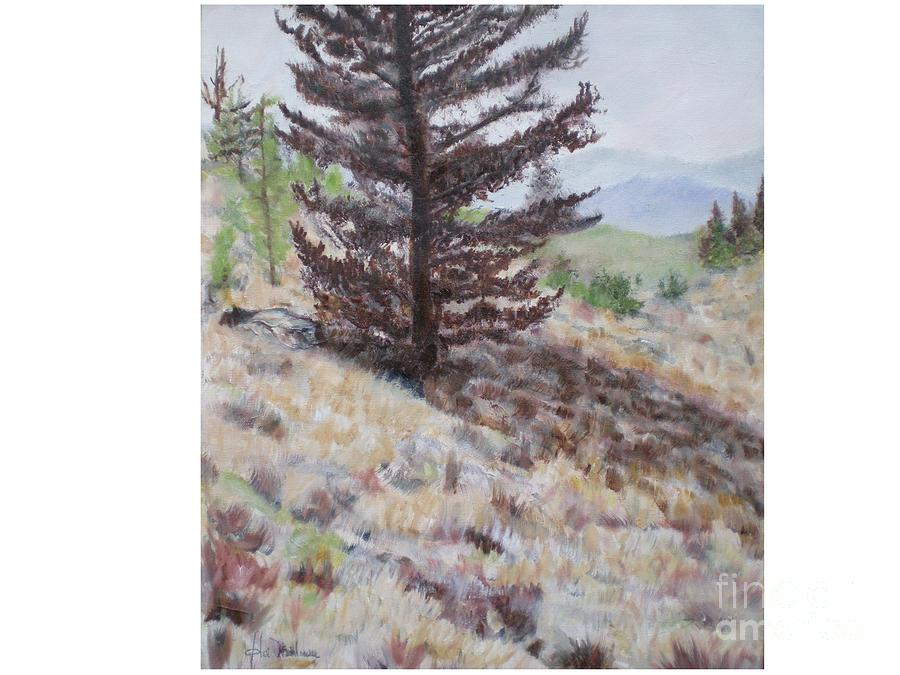 Rocky Mountains Painting - Lone Mountain Tree by Hal Newhouser