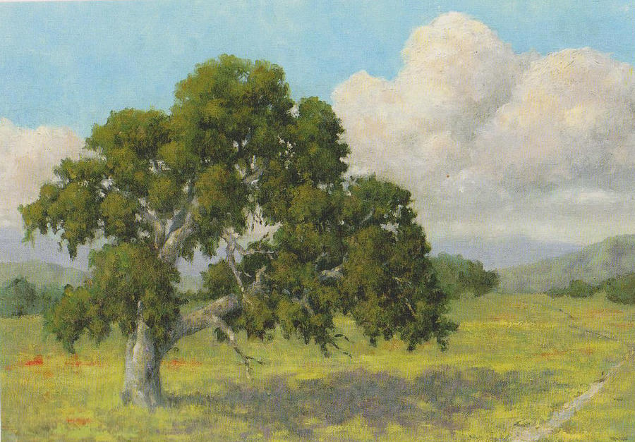 California Landscape Painting - Lone Oak by Marv Anderson