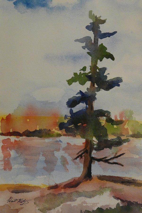 Georgian Bay Painting - Lone Pine by Heather Kertzer