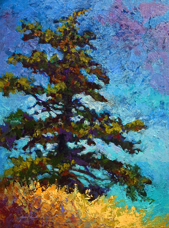 Trees Painting - Lone Pine II by Marion Rose