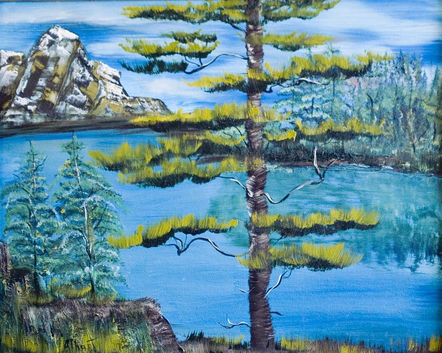 Landscape Painting - Lone Pine by Mikki Alhart